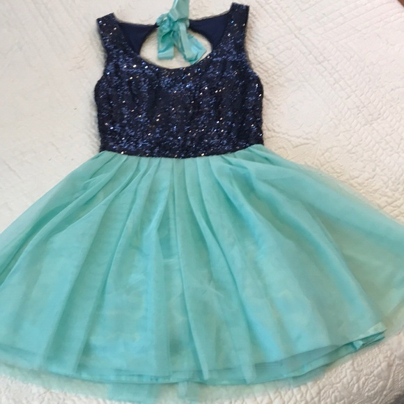 B Darlin Dresses Navy And Sea Green Semi Formal Dress Poshmark